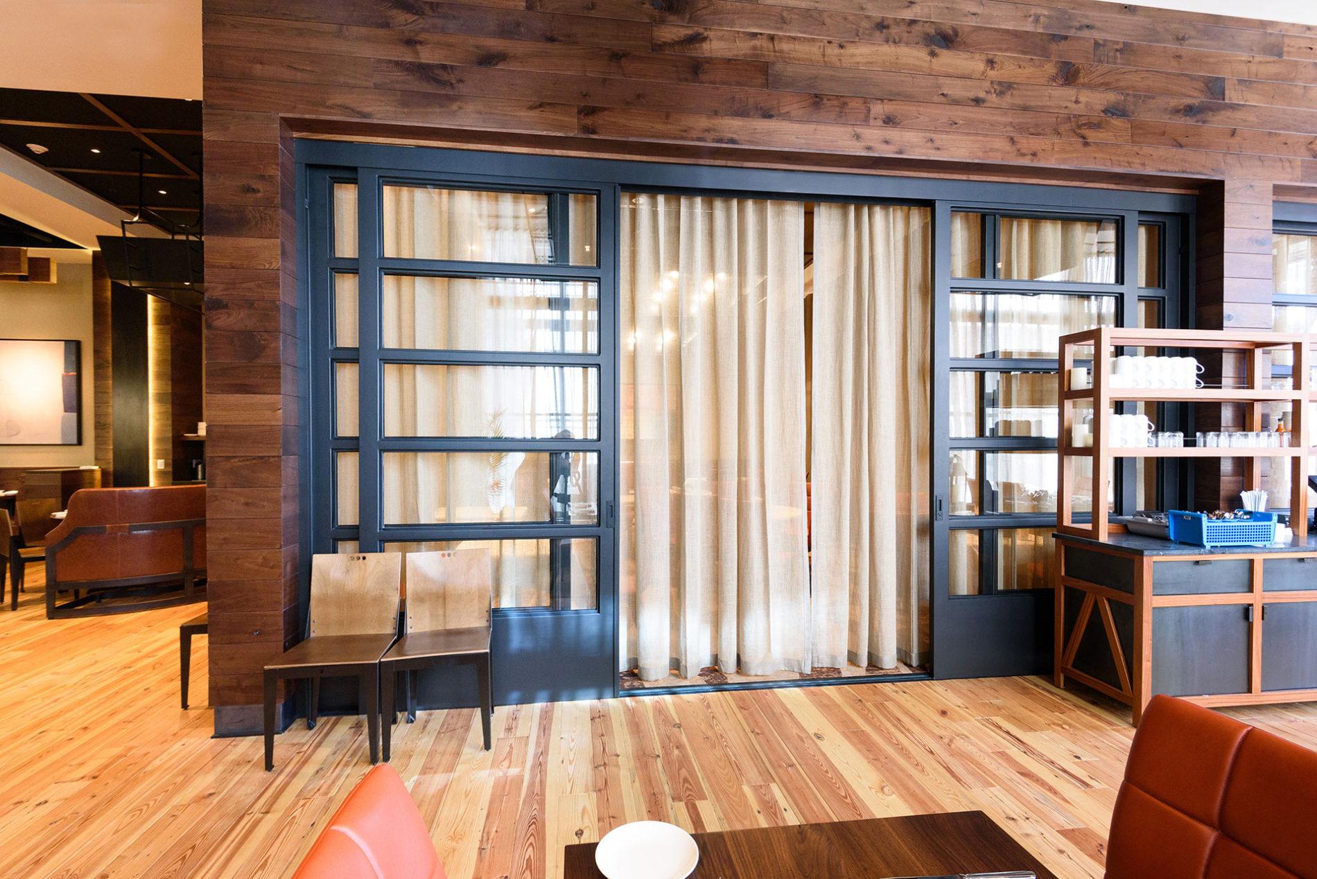 Oversized Steel Sliding Door South City Kitchen