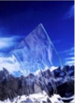 Glacier Pattern Glass for Steel Windows