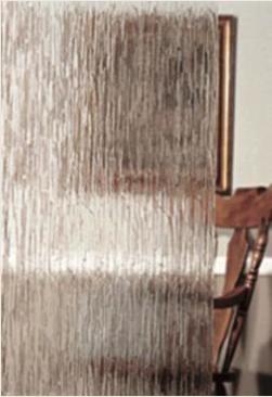 Rain Pattern Glass for Steel Windows